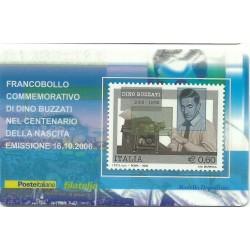 2006 TESSERA FILATELICA CENTENARIO NASCITA DI DINO BUZZATI MF25741