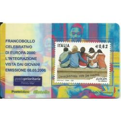 2006 TESSERA FILATELICA EUROPA INTEGRAZIONE 0,62 MF25949