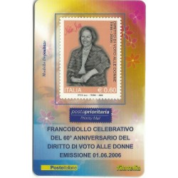 2006 TESSERA FILATELICA DIRITTO DI VOTO ALLE DONNE MF25952
