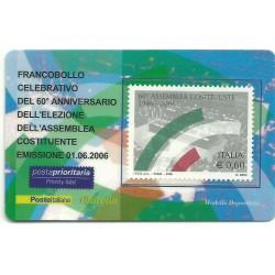 2006 TESSERA FILATELICA 60 ANNIV. ELEZIONE ASSEMBLEA COSTITUENTE MF25953