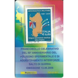 2006 TESSERA FILATELICA 50 ANNIV POLIGONO SPERIMENTALE MF25960