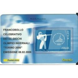 2006 TESSERA FILATELICA XX GIOCHI OLIMPICI INVERNALI TORINO 2006 - 0,23 - MF25971