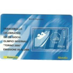 2006 TESSERA FILATELICA XX GIOCHI OLIMPICI INVERNALI TORINO 2006 - 0,85 - MF25975