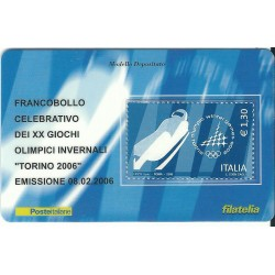 2006 TESSERA FILATELICA XX GIOCHI OLIMPICI INVERNALI TORINO 2006 - 1,00 - MF25977