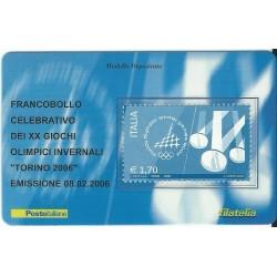 2006 TESSERA FILATELICA XX GIOCHI OLIMPICI INVERNALI TORINO 2006 - 1,70 - MF25979