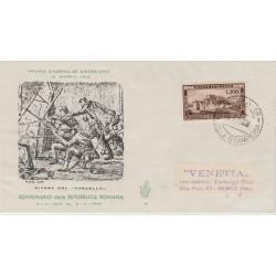 1949 FDC VENETIA ITALIA N. 10  ROMANA NON  VIAGGIATA MF50020F52021