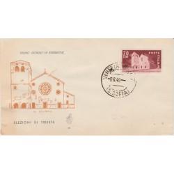 1949 FDC VENETIA ITALIA N. 18  ELEZIONI TRIESTE   NON  VIAGGIATA MF52017