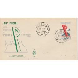 1952 FDC VENETIA ITALIA N. 146 FIERA DI PADOVA  NON VIAGGIATA MF52082