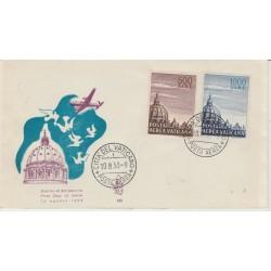 1953 FDC VATICANO N° 195 CUPOLONI 2 VAL  MF52140