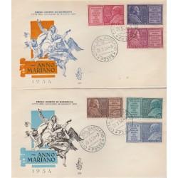 1954 FDC VENETIA VATICANO N 219 - ANNO MARIANO  NON VIAGGIATA MF52149