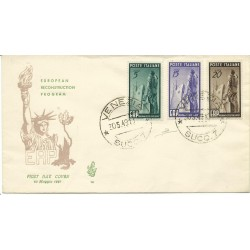 1949 FDC VENETIA ITALIA N. 14 ERP EUROPEAN RECONSTRUCTION PROGRAM  NON  VIAGGIATA MF25997