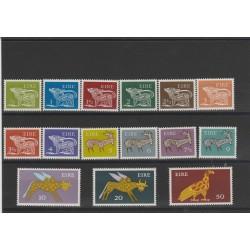 1971  IRLANDA ANIMALI NUOVA MONETA  15 VALORI NUOVI MNH MF52200