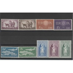 1960 -1961 IRLANDA ANNATE COMPLETE 9 VALORI NUOVI MNH MF52201