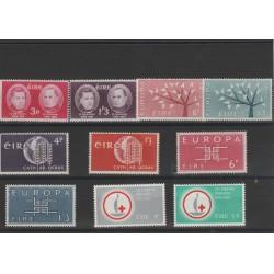 19602 - 1963 IRLANDA ANNATE COMPLETE 10 VALORI NUOVI MNH MF52202