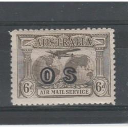 1931 AUSTRALIA  GLOBI SOPRASTAMPATO 1 VAL MNH MF51934
