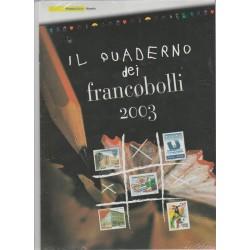 2003 ITALIA REPUBBLICA QUADERNO DEI FRANCOBOLLI COMPLETO