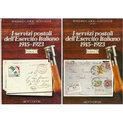 AISP PUBBLICAZIONE SUI SERVIZI POSTALI ESERCITO ITALIANO 1915/1923 2 VOL MF6271
