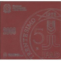 2008 ITALIA SERIE DIVISIONALE EURO - IPZS - 9 MONETE FDC CON ARGENTO