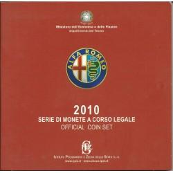 2010 ITALIA SERIE DIVISIONALE EURO - IPZS - 10 MONETE FDC CON ARGENTO