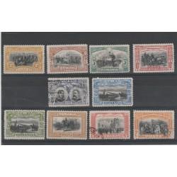 1906  ROMANIA  REGNO DI CARLO I °   -  10 VAL  UNIF N 187/96 USATO  MF52235