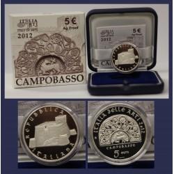 2012 ITALIA MONETA COMMEMORATIVA 5 EURO CORTE DEI CONTI - IPZS - PROOF ARGENTO