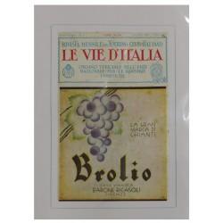 1930 CHIANTI BROLIO CASA VINICOLA BARONE RICASOLI PUBBLICITA' D'EPOCA - ORIGINALE -