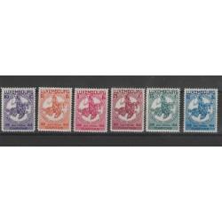 1934 LUSSEMBURGO CARITAS PRO INFANZIA 6 VAL MNH MF52578