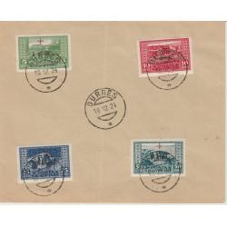 1924 ALBANIA  PRO CROCE ROSSA  4 VAL USATI MICHEL 96/99 MF52492