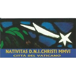 2006 VATICANO VATICAN CITY LIBRETTO NATALE VETRATA S. CONSADORI MF26262