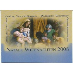 2008 VATICANO VATICAN CITY LIBRETTO NATALE DIPINTO A. DURER MF26261
