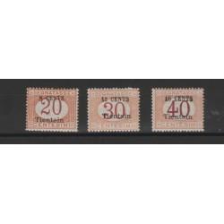 1917  CINA TIENTSIN  SEGNATASSE  4 VAL SASSONE N 1/4 MLH MF52325