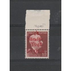 1943 ALBANIA SOPRASTAMPA DOPPIA  OCCUPAZIONE TEDESCA  UNIF  N 9Ea 1 VAL MNH MF52427