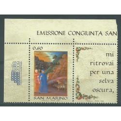 2009 EMISSIONE CONGIUNTA SAN MARINO ITALIA LINGUA ITALIANA 1 VAL MNH MF21857