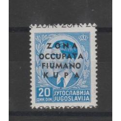 1941 OCCUPAZIONE ZONA FIUMANO KUPA 20 d  CELESTE  1 VAL MNH N 13 RAYBAUDI  MF52372
