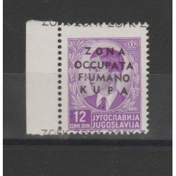 1941 OCCUPAZIONE ZONA FIUMANO KUPA 12 d  VIOLETTO 1 VAL MNH N 11 F.TO DIENA   MF52373