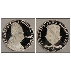MEDAGLIA COMMEMORATIVA PAPALE PAPA CLEMENS VI 1350 ARGENTO SILVER 925 MF26163