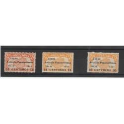 COSTA RICA  1940 GIORNATA AVIAZIONE 3 VAL MNH  MF52471