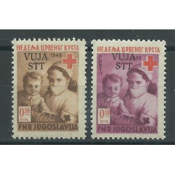 1950 TRIESTE B STT - VUJNA SERIE PRO CROCE ROSSA 2 VALORI NUOVI MNH MF17219