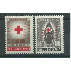 1953 TRIESTE B STT - VUJNA SERIE PRO CROCE ROSSA  2 VALORI MLH MF17252