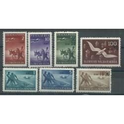 1949 TRIESTE B STT - VUJNA P AEREA SOGG VARI SOPRAST DIN 7 VAL MLH  MF17253