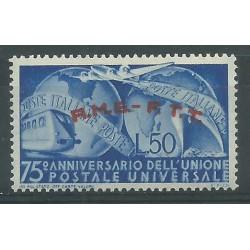 1949 TRIESTE A AMG-FTT 75 ANNIVERSARIO UPU 1 VALORE NUOVO MNH MF26439