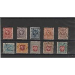 1919 LITUANIA LIETUVA STEMMA CARTA GRIGIA 10  VAL USATI MF52280
