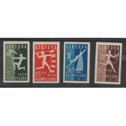 1938 LITUANIA LIETUVA OLIMPIADI LITUANA  4 VAL MLH  MF51571