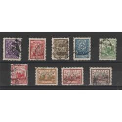 1923 LITUANIA LIETUVA SOGGETTI VARI  9 VAL USATI  MF52279