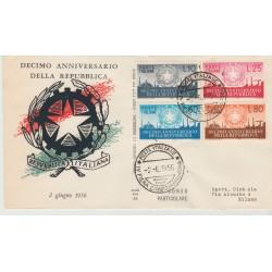 1956 FDC ALA ITALIA X COSTITUZIONE  NON VIAGGIATA MF52446