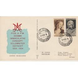 1954 FDC ALA ITALIA ANNO MARIANO  NON VIAGGIATA MF52445