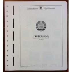 GERMANIA DEMOCRATICA DAL 1949 AL 1959 N.40 FOGLI LEUCHTTURM  USATO MF26254