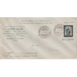 1949  FDC ITALIA  REPUBBLICA MAZZINI  NON VIAGGIATA MF52967