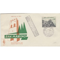 1958 FDC VENETIA SAN MARINO LIRE 500 PANORAMA  VIAGGIATA MF52964