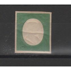 SARDEGNA 1854 -  5 CENT VERDE N 10  NUOVO - CON PIEGA - CHIAVARELLO MF52600